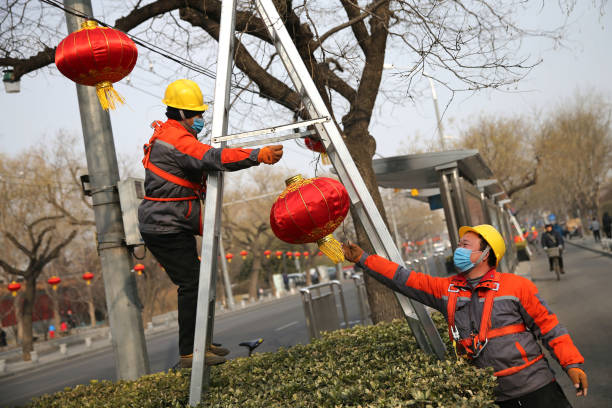 CHN: Beijing Prepares For The Chinese New Year