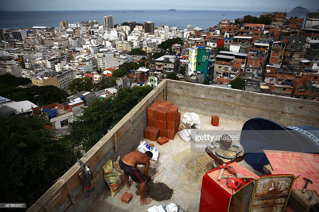 Hotel in Rio Favela Prepares to Host World Cup Visitors : News Photo