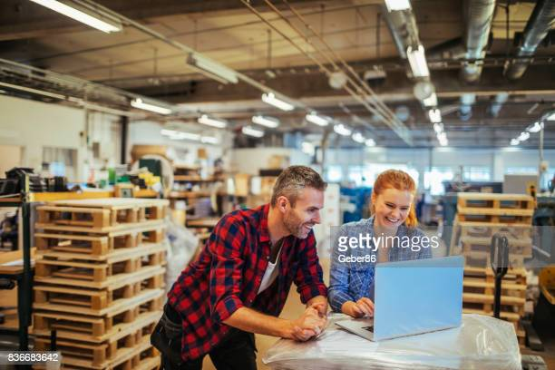 workers in a printing factory - business stock pictures, royalty-free photos & images