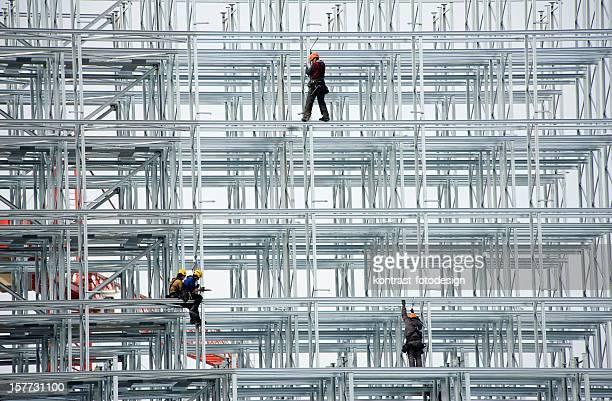 Workers in a Steel Construction, Niedernberg, Germany