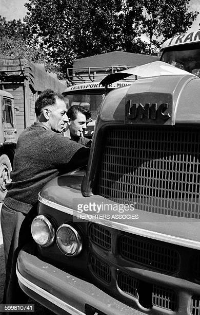 Workers in a Transport Company in the Small Norman City of Ouistreham, France, on June 24, 1963 .