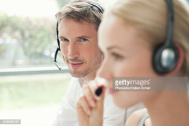 Workers in call center