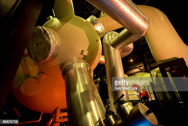 Workers in nuclear plant turbine room