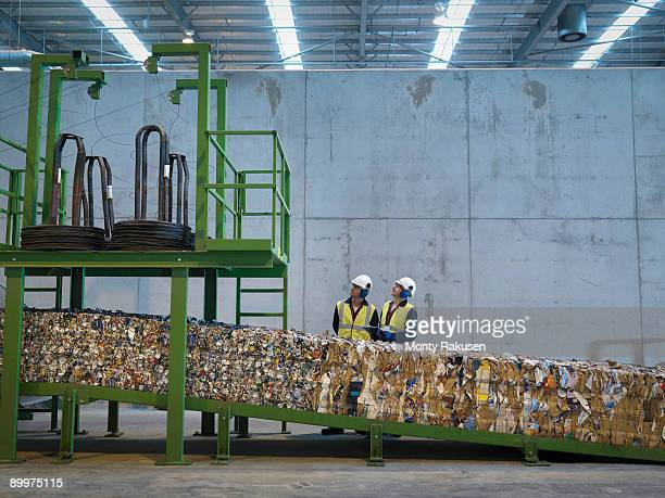 Workers In Recycle Plant