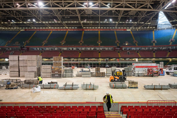GBR: Principality Stadium Converted Into Dragon's Heart Hospital For Coronavirus Patients