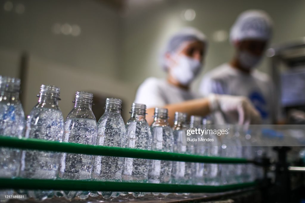 Ambev Pioneers in Diverting from its Core Business to Produce Hand Sanitizers to be Donated to Hospitals Amidst the Coronavirus (COVID -19) Pandemic : News Photo