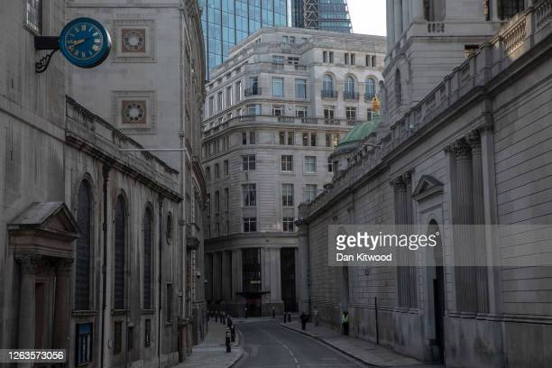 Workers in the Square Mile on August 03, 2020 in London, England. As of August 1st, the British government stopped encouraging businesses to have...
