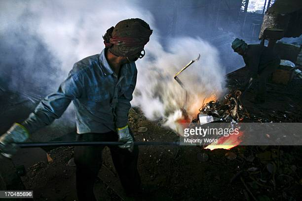 Workers in the steel rerolling mills work without proper safety gear or tools In these mills iron is forged in 1200 to 1300 Celsius In such a heated...