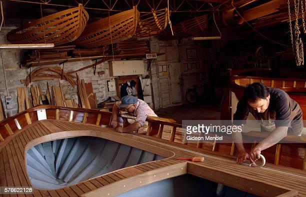 Workers in Topiazo Boat Workshop