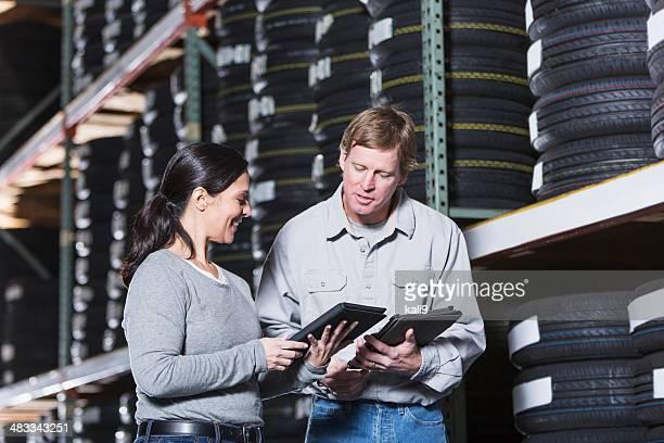 Arbeitnehmer im warehouse