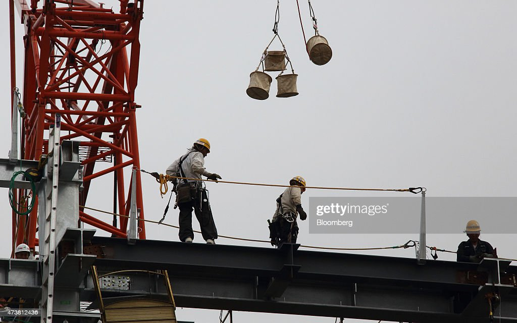 Images Of Construction Sites Ahead Of Japan's 1Q GDP Figures : News Photo