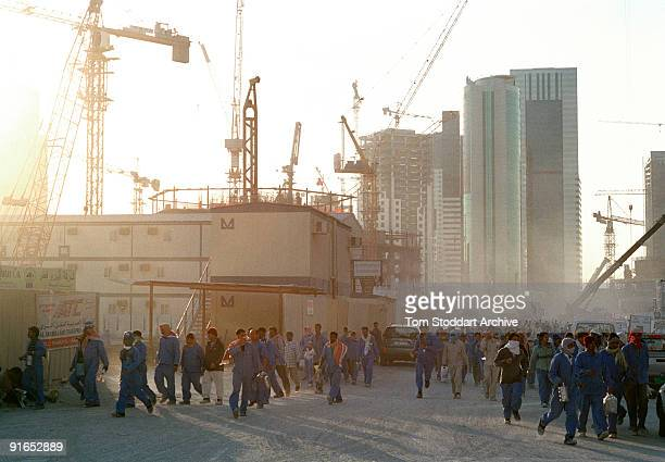 Workers leaving a construction site along the corniche in Doha Qatar May 2008 The country's huge oil and gas reserves have made it one of the world's...
