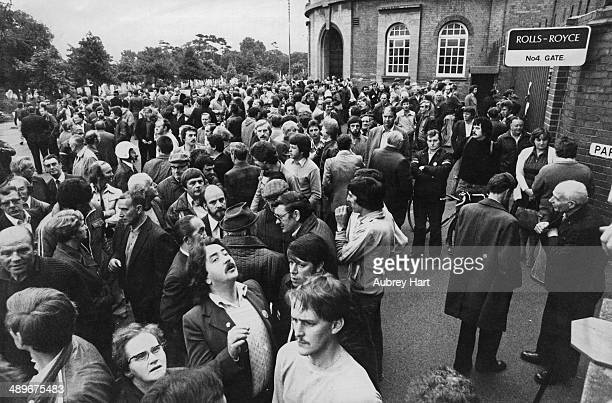Workers locked out of the Parkside works of the RollsRoyce Limited Aero Division in Coventry during an industrial dispute 19th September 1979