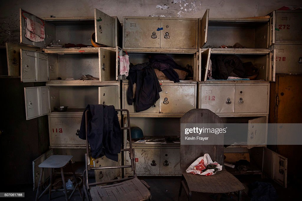 Worker's lockers in the abandoned Qingquan Steel plant which closed in 2014 and became one of several so-called 'zombie factories', on January 26, 2016 in Tangshan, China. China's government plans to slash steel production by up to 150 million tons, which could see the loss of as many as 400,000 jobs according to state estimates. Officials point to excessive industrial capacity, a slump in demand and plunging prices as they attempt to restructure China's slowing economy. Hebei province, long regarded as China's steel belt, once accounted for nearly a quarter of the country's steel output. In recent years, state-owned steel mills have been shut down and dozens of small privately-owned plants in the area have gone bankrupt.