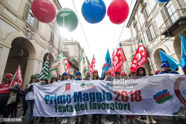 Workers manifest during the march of the May Day procession The Workers 'Day is celebrated on 1 May each year in many countries of the world to...