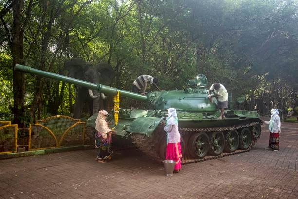 IND: Tank T-55 Participated In 1965 And 1971 Wars Against Pakistan Display For Public In Bagul Garden