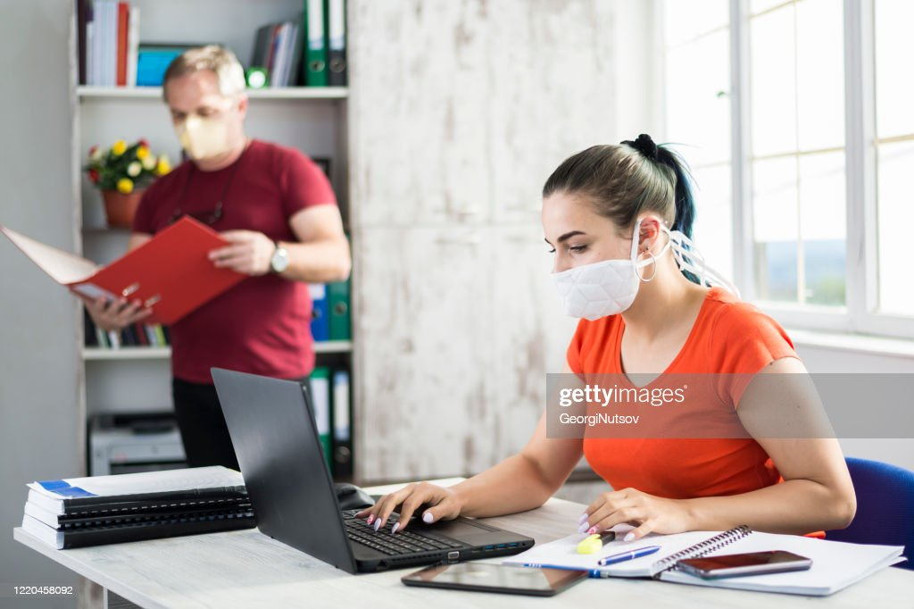 Workers of different generations in the office. : Stock Photo