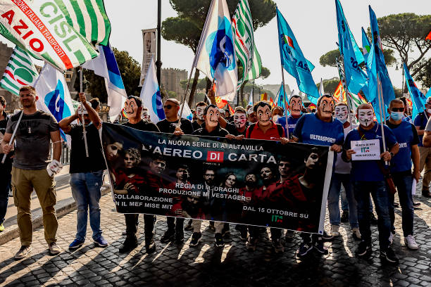 ITA: Italian Air Transport Workers Protest