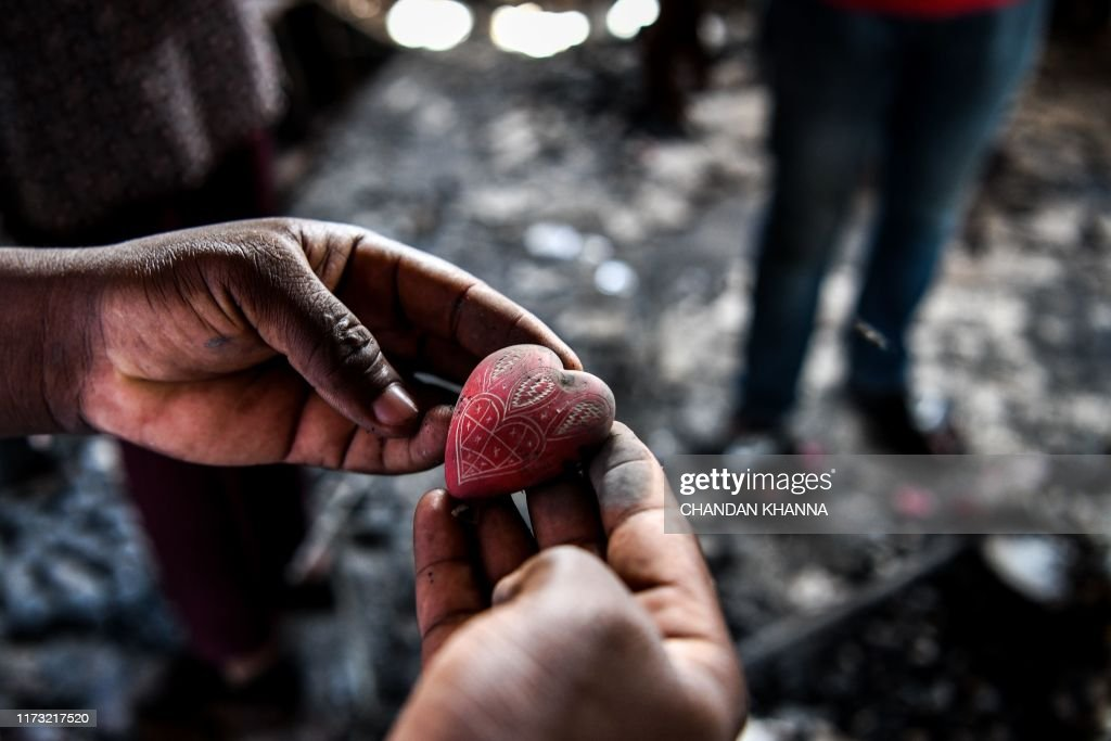 TOPSHOT-HAITI-POLITICS-ART-PROTEST-CRISES : News Photo