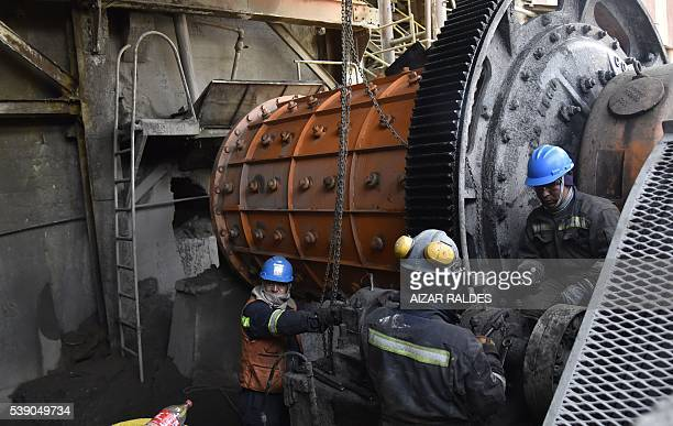 Workers of the state mine Colquiri purify and concentrate tin and zinc on June 8 2016 The Colquiri mine is an underground tinzinc mine located in the...