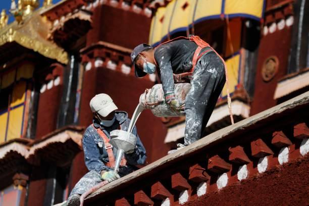 CHN: Annual Repairs At Potala Palace After Rainy Season