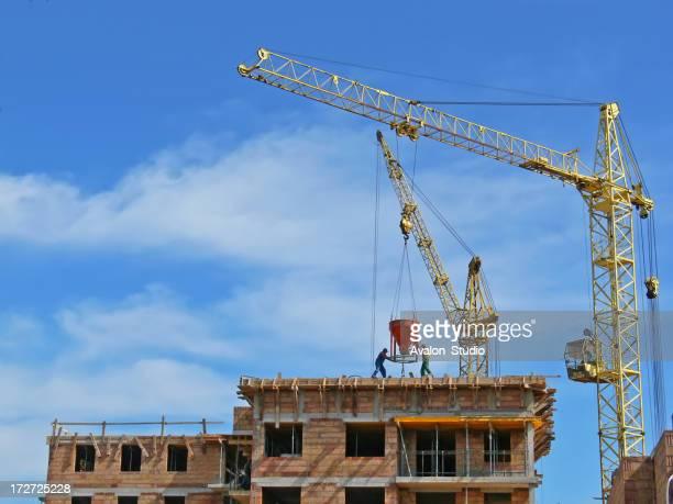 Workers pour concrete