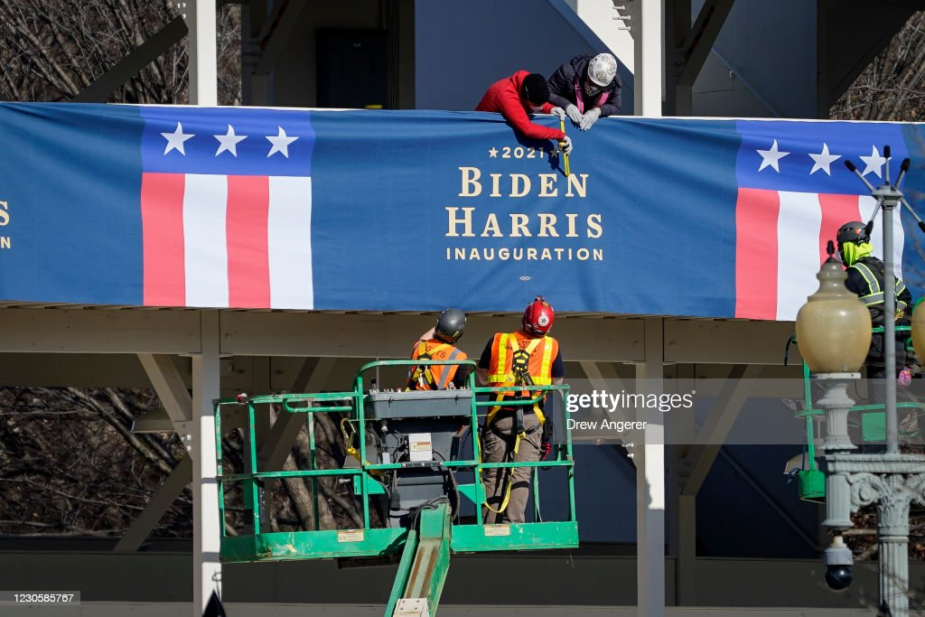 Washington, DC Prepares For Potential Unrest Ahead Of Presidential Inauguration : News Photo