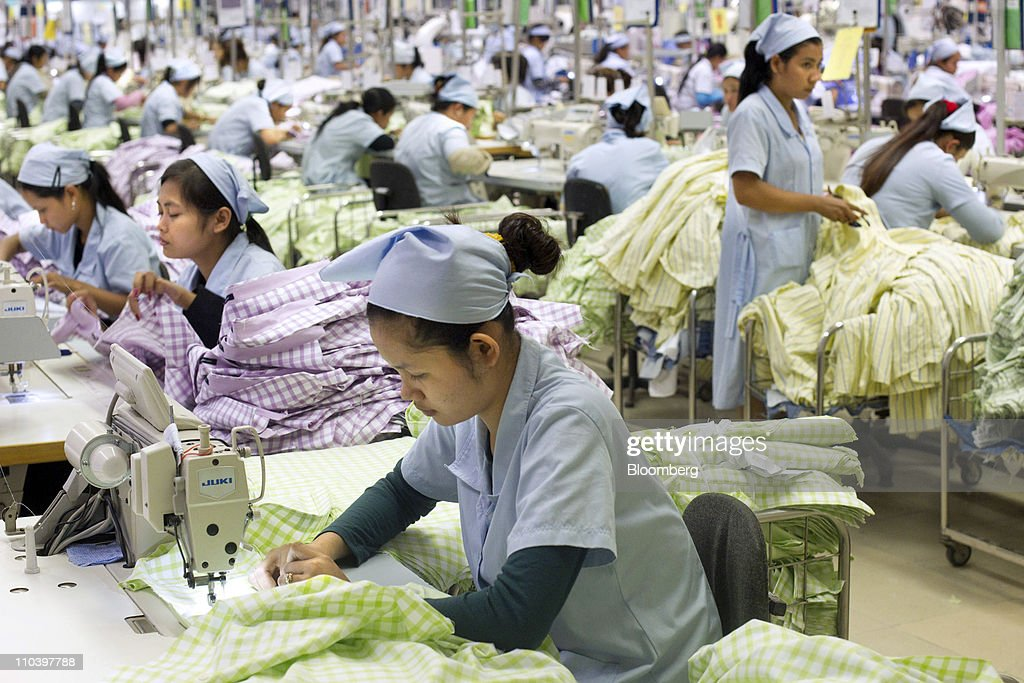 Operations At Quantum Clothing's Garment Factory : News Photo