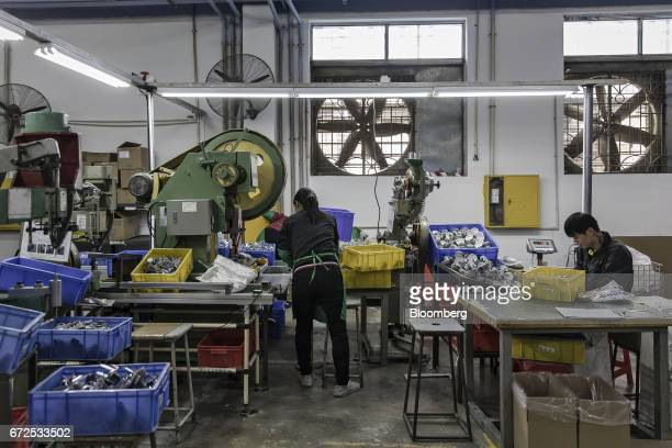 Workers sort casters at a factory operated by the Guangdong Shiyi Furniture Co in Foshan China on Tuesday Feb 28 2017 Startup EDeodar a whollyowned...