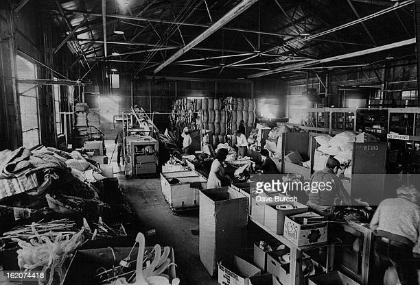MAY 9 1975 MAY 14 1975 MAY 18 1975 Workers sort donations 'the life's blood' of the Salvation Army Male workers are in the program females are hired...