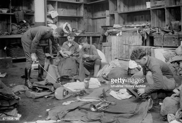 Workers Tracing Lost Property of Soldiers upon Return from Europe after World War I New York City New York USA Bain News Service 1919