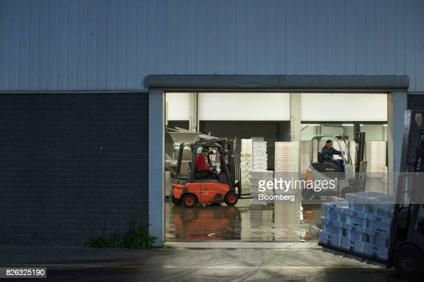 Workers transport crates of fresh fish before cleaning and sorting at the port of Den Helder Netherlands on Friday Aug 4 2017 Prime Minister Theresa...