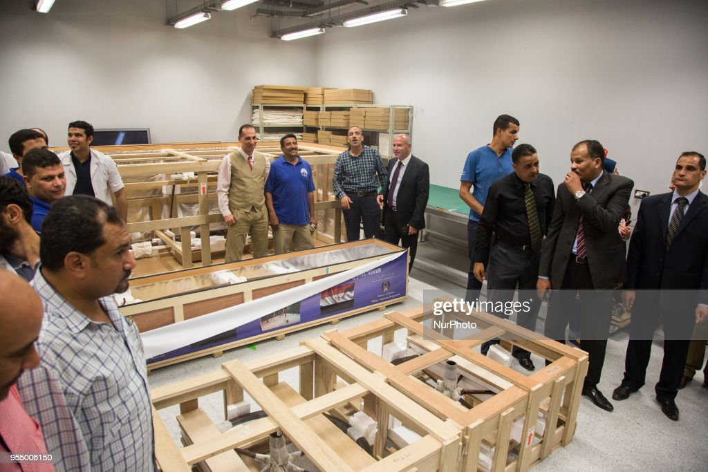 The Grand Egyptian Museum Receives The Last Chariot Of Tutankhamun : News Photo