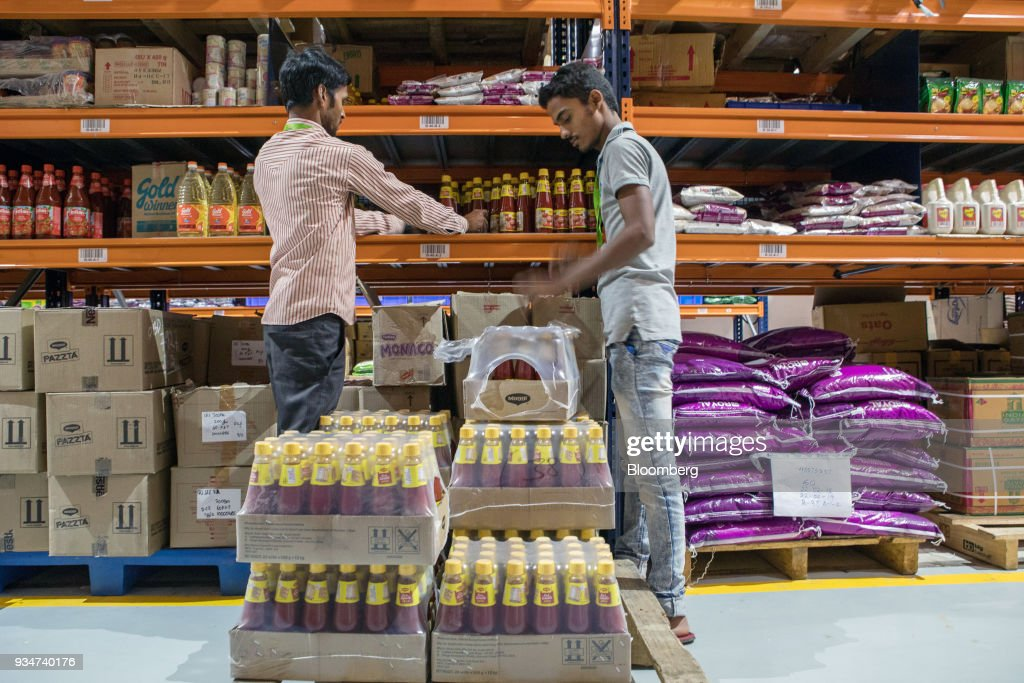 BigBasket Founders Portraits and Operations at the Online Grocer's Warehouse