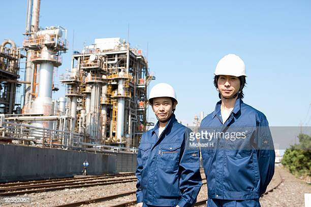 Workers who exist in industrial installation