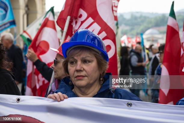 Workers woman manifest during the march of the May Day procession The Workers 'Day is celebrated on 1 May each year in many countries of the world to...