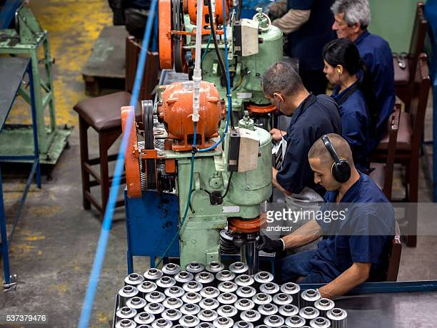 Workers working at a factory