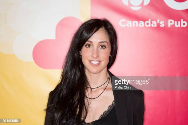 Workin' Moms TV show creator Catherine Reitman attends the CBC Radio Canada opening reception at the Banff World Media Festival in the Fairmont Banff...