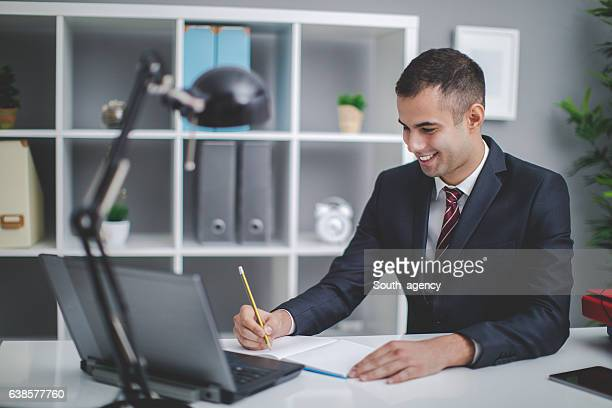 working and smiling - secretary stock photos and pictures