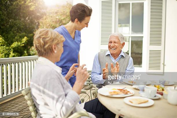 Working as a geriatric nurse is very gratifying and rewarding
