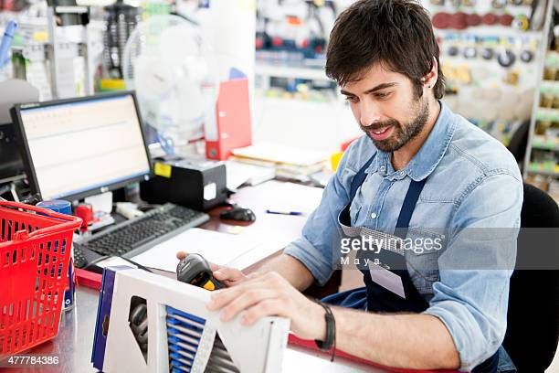 Working at a hardware store