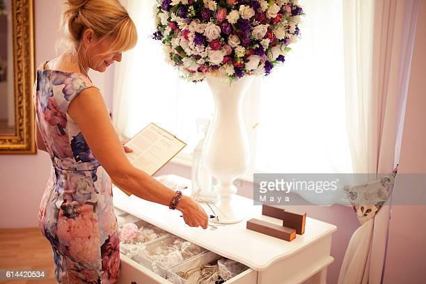 Working at bridal shop