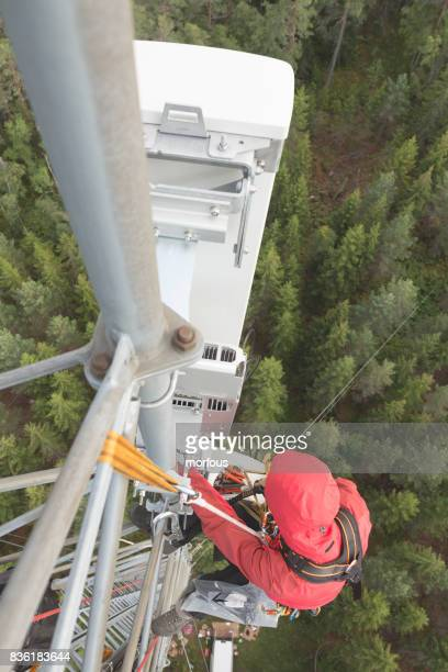 working at height - high up stock photos and pictures
