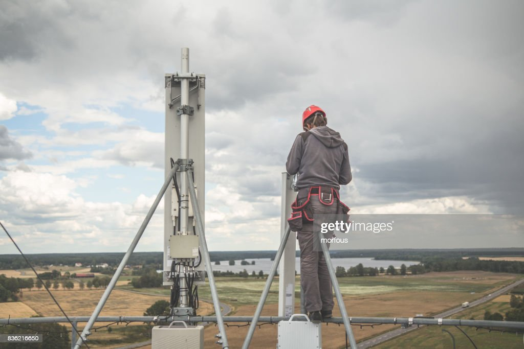 Working at height : Stock Photo
