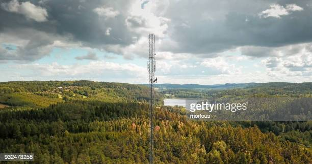 working at height - tower stock pictures, royalty-free photos & images