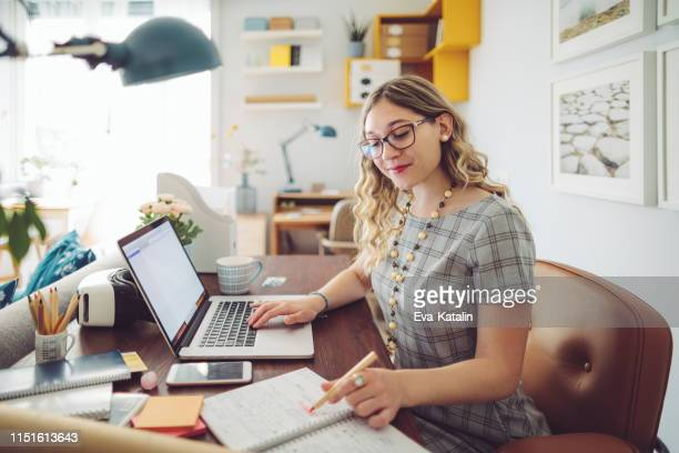 working at home - accountancy stock pictures, royalty-free photos & images