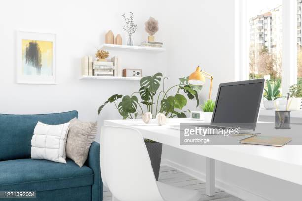 working at home - studio workplace stock pictures, royalty-free photos & images