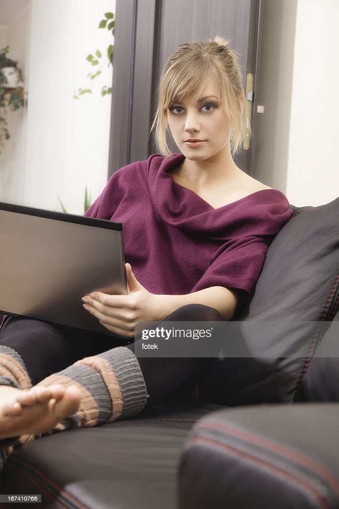 Working at home : Stock Photo