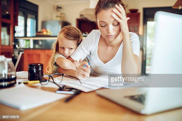 working at home - one parent stock pictures, royalty-free photos & images