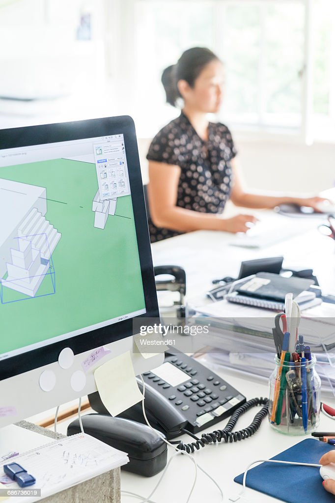 Working At Landscape Architecture Office : Stock Photo